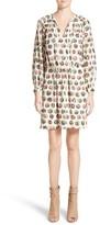 Burberry Women's Verity Print Mulberry Silk Shirtdress