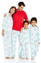 Karen Neuburger Women's Mom Minky Fleece Long Sleeve Collared Snowman Holiday Matching Pj Set