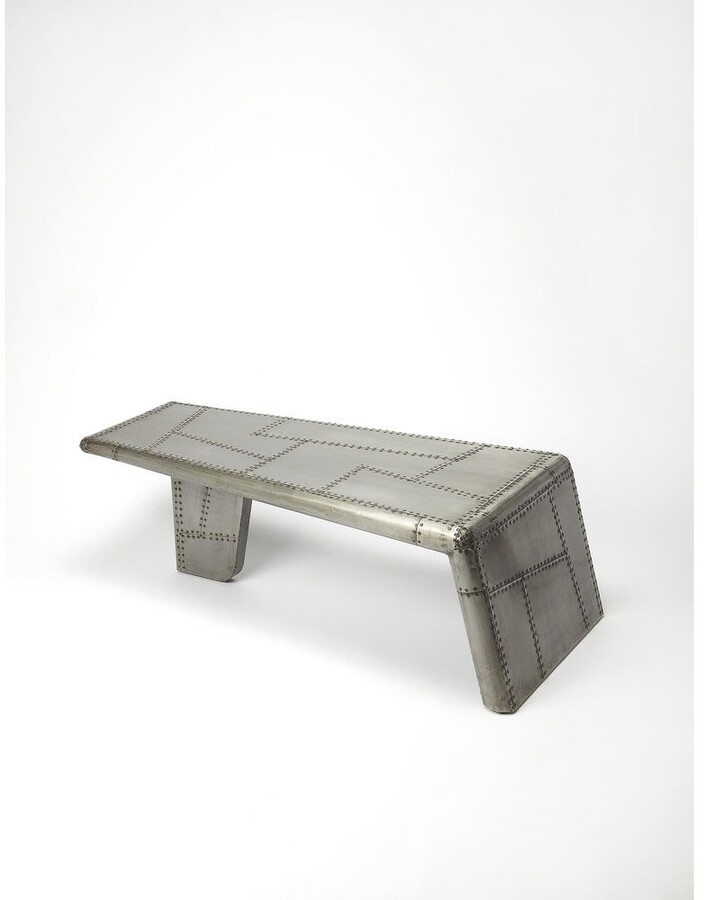 Thumbnail for your product : Butler Modern Industrial Chic Wooden Rectangular Cocktail Table - Gray