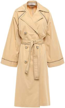 Nina Ricci Oversized Stretch-cotton Gabardine Trench Coat
