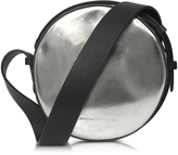 Diane von Furstenberg Circle Silver Patent Leather Crossbody