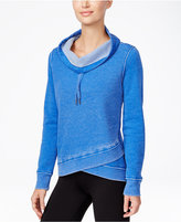 Calvin Klein Space-Dyed Cowl-Neck Asymmetrical Hem Top