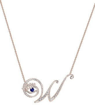 Tabayer Eye 18K Rose Gold, Diamond & Sapphire Wise Pendant Necklace