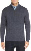 Nordstrom Men's Ribbed Quarter Zip Sweater