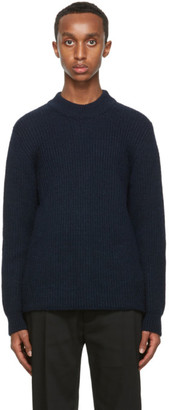 Séfr Navy Leth Sweater
