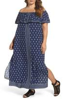 Vince Camuto Paisley Off the Shoulder Maxi Dress