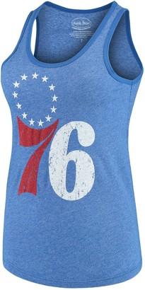 Majestic Women's Threads Royal Philadelphia 76ers Primary Icon Tri-Blend Tank Top