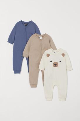 H&M 3-pack Cotton Pajamas - Blue