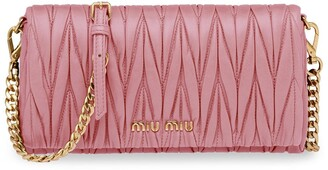 Miu Miu Small Matelasse Leather Shoulder Bag