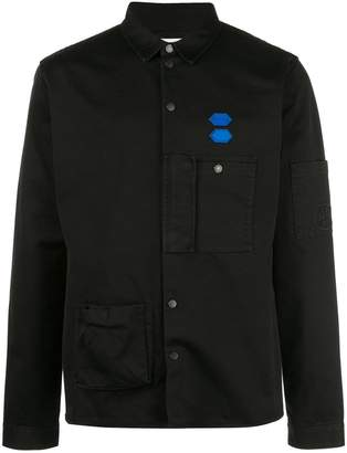 Off-White cotton snap buttoned shirt