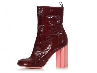 Louis Vuitton Silhouette Burgundy Patent leather Ankle boots