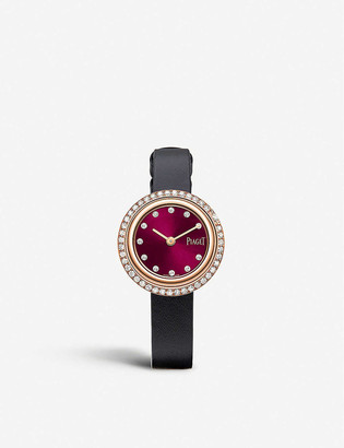 Piaget G0A44096 Possession 18ct rose-gold, 1.56ct diamonds and leather quartz watch