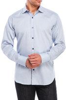 Bogosse Blue Woven Button-Down Shirt