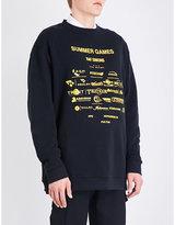 Raf Simons Summer Games cotton-jersey sweatshirt