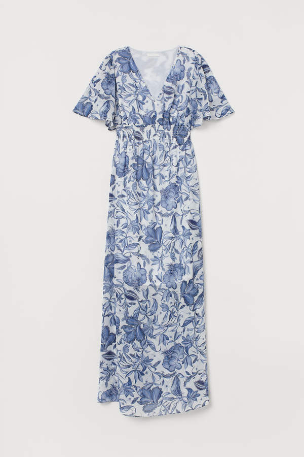 H&M MAMA Butterfly-sleeved Dress - White