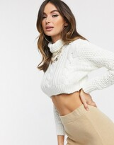 I SAW IT FIRST chunky knit cropped jumper