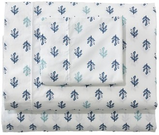 L.L. Bean Sunwashed Percale Sheet Collection, Leaf Print