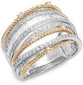 Effy Women's 14K White & Yellow Gold Diamond Multi-Band Ring