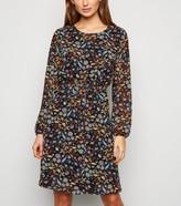 New Look JDY Floral Tie Waist Mini Dress