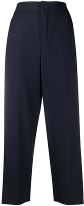 Chloé High-Waisted Cropped Trousers