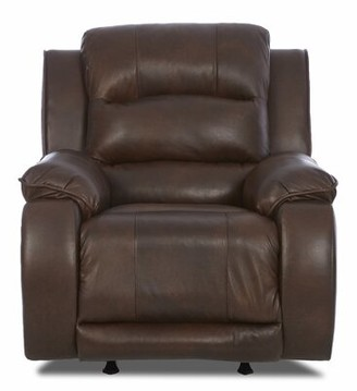 Darby Home Co Baton Rouge Leather Power Recliner