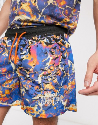 Blood Brother swim shorts in all-over print