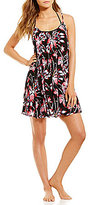 Roxy Blowing Mid Windy Fly Away Strappy Dress Cover-Up