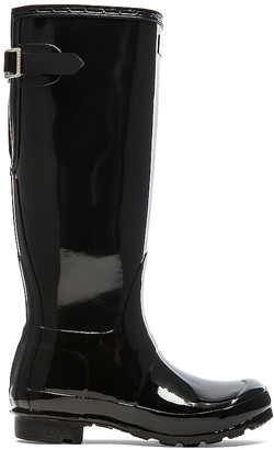 Hunter Back Adjustable Gloss Rain Boot