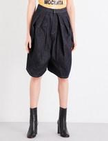 Junya Watanabe Dropped-crotch denim shorts