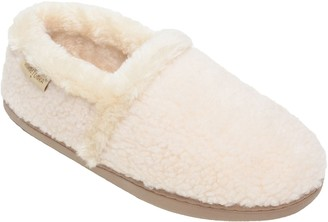 Minnetonka Women's Dina A Line Cream Slippers