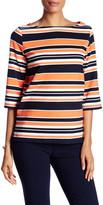 Trina Turk 3/4 Length Sleeve Stripe Shirt