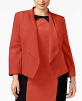 Nine West Plus Size Draped Blazer
