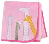 Carter's Plush Valboa with Microplush Blanket, Giraffes/Pink/Orange/White by