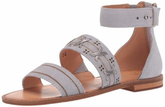 Frye Women's Evie Whipstitch 2 Band Sandal Flat