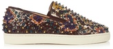 Christian Louboutin Roller-boat Slip-on Python Trainers
