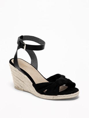 Old Navy Knotted Faux-Suede Wedge Sandals for Women