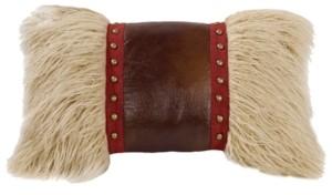 "HiEnd Accents Mongolian Fur 12""x19"" Pillow"