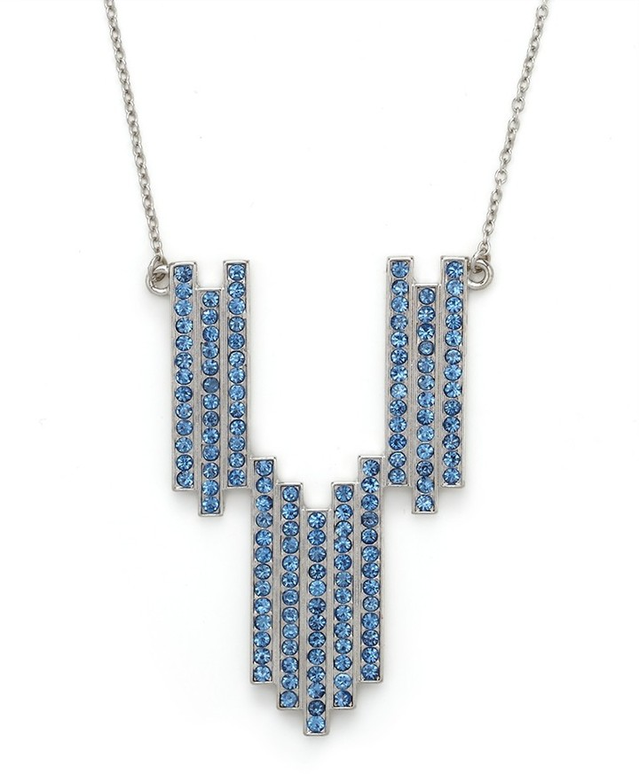 BaubleBar Blue Art Deco Chunky Necklace