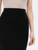 Thumbnail for your product : New Look Ribbed Midi Skirt - Black