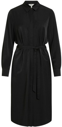 Object Black Eileen Shirt Dress - 36 | black - Black/Black