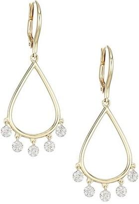 Phillips House Infinity 14K Yellow Gold & Diamond Drop Dangle Earrings