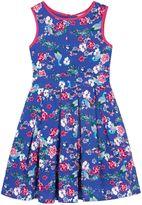 Uttam Girls Peacock Print Day Dress