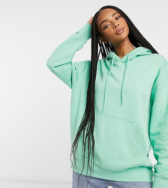 Weekday Alisa organic cotton hoodie in mint green
