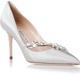 Manolo Blahnik Nadira grey satin pump
