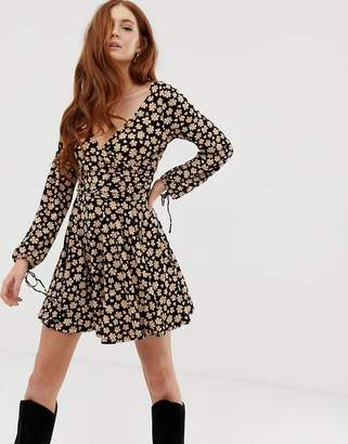 Free People Pradera printed skater dress-Black
