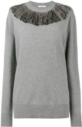 Christopher Kane Metallic Fringe Sweater