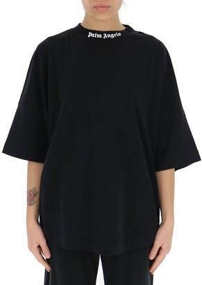 Palm Angels Logo Printed Oversized T-Shirt