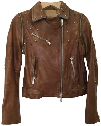 Le Sentier Brown Leather Jacket for Women