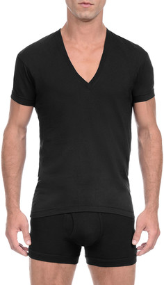 2xist Pima Slim-Fit Deep V-Neck T-Shirt