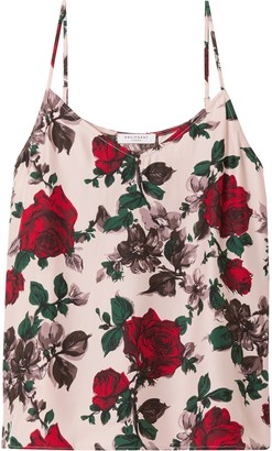 Equipment Layla Floral-print Washed-silk Camisole